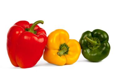 Roter, grüner und gelber Paprika V