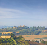 Tuscany countryside by montepulciano