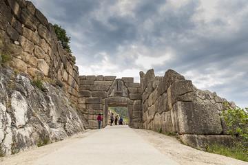 The Lion gate in Mycenae,Greece