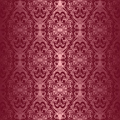 Elegant claret seamless wallpaper.
