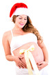 Woman expecting a Christmassy baby