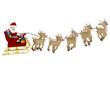 3D Santa on a sleigh
