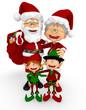 3D Santa family