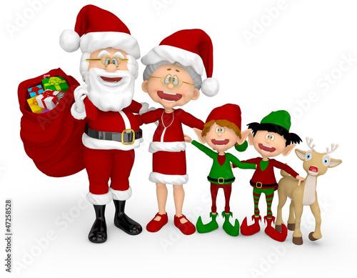 3D Christmas family