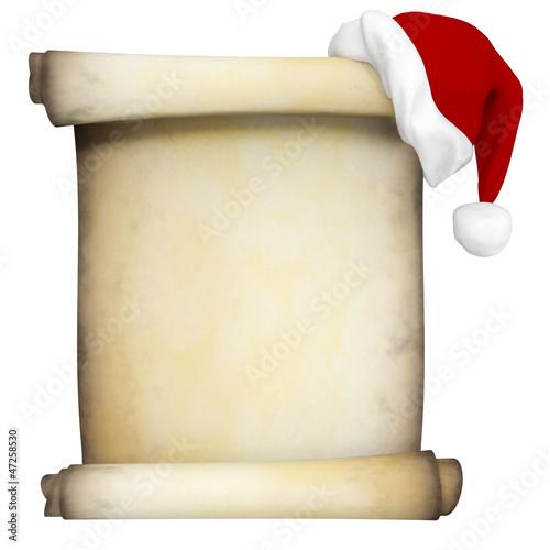 3D Christmas scroll