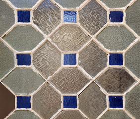 Texturas de vidrio, ventana de rombos de cristal
