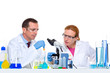chemical laboratory with two scientist working