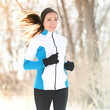 Trail running in winter