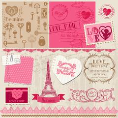 Scrapbook Design Elements - Love Set - for cards, invitation