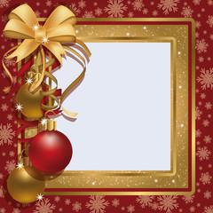 Christmas greeting photo frame scrapbooking