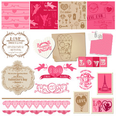 Scrapbook Design Elements - Love Set - for cards, invitation