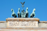Fototapety Brandenburg gate detail, Berlin