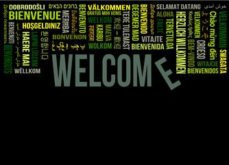 welcome tagcloud - herzlich willkommen