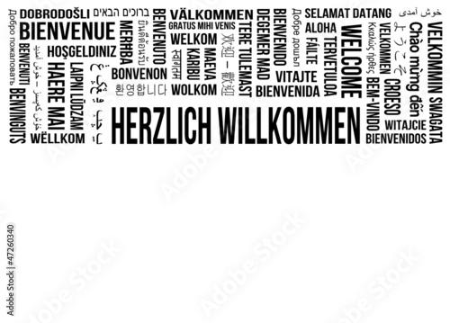 Herzlich Willkommen - Stichworte - verschiedene Sprachen - 47260340