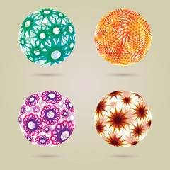 Abstract spheres - EPS10 file with transparencies