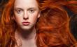 Wavy Red Hair