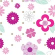 Cute seamless background pattern with pink flowers