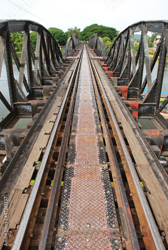 Historical bridge over the river Kwai