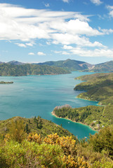 The Marlborough Sounds, South Island of New Zealand.
