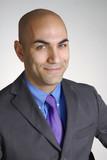 Retrato de un exitoso joven ejecutivo.