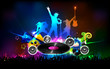 Disco Jockey Party Night