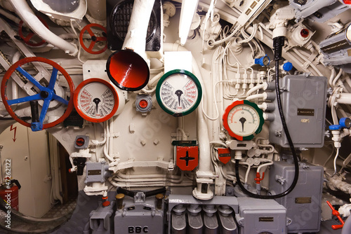German world war 2 submarine type VIIC/41 - heart of submarine