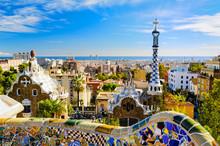 """Постер, картина, фотообои """"Park Guell in Barcelona, Spain"""""""