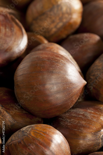 Raw Organic Brown Chestnuts