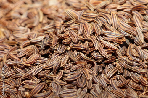 Cumin seeds texture, full frame background