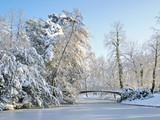 Fototapety paysage d'hivers à l'Orangerie de Strasbourg