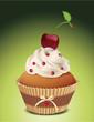 Cupcake mit Kirsche