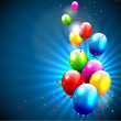 Modern birthday background with colorful balloons