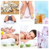 Beautiful Spa massage collage. - 47264125