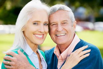 Outdoor Portrait Of Happy Senior Couple