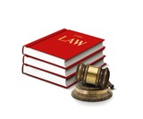 Books of law and gavel