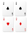 Isolated playing cards vector.