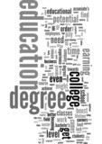 A College Degree is Nearly a Necessity poster