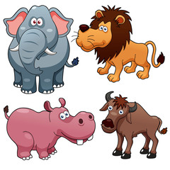illustration of Wild animals cartoons