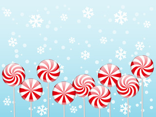 Christmas candies border
