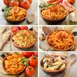 Collage varie ricette di pasta italiana