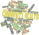 Word cloud for Community health