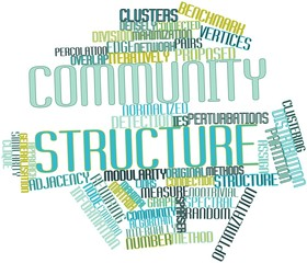 Word cloud for Community structure