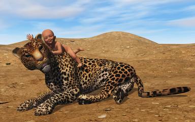 bébé et jaguar