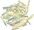 Word cloud for Efficiency