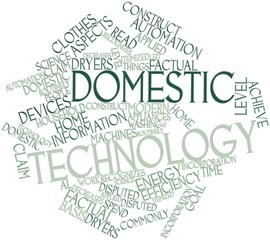 Word cloud for Domestic technology