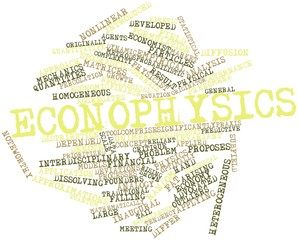 Word cloud for Econophysics