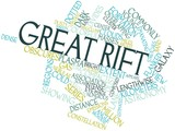 Word cloud for Great Rift poster