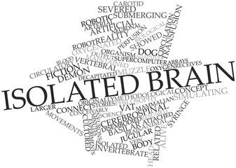 Word cloud for Isolated brain