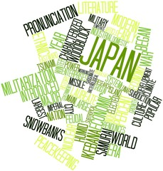 Word cloud for Japan