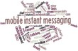 Word cloud for Mobile instant messaging